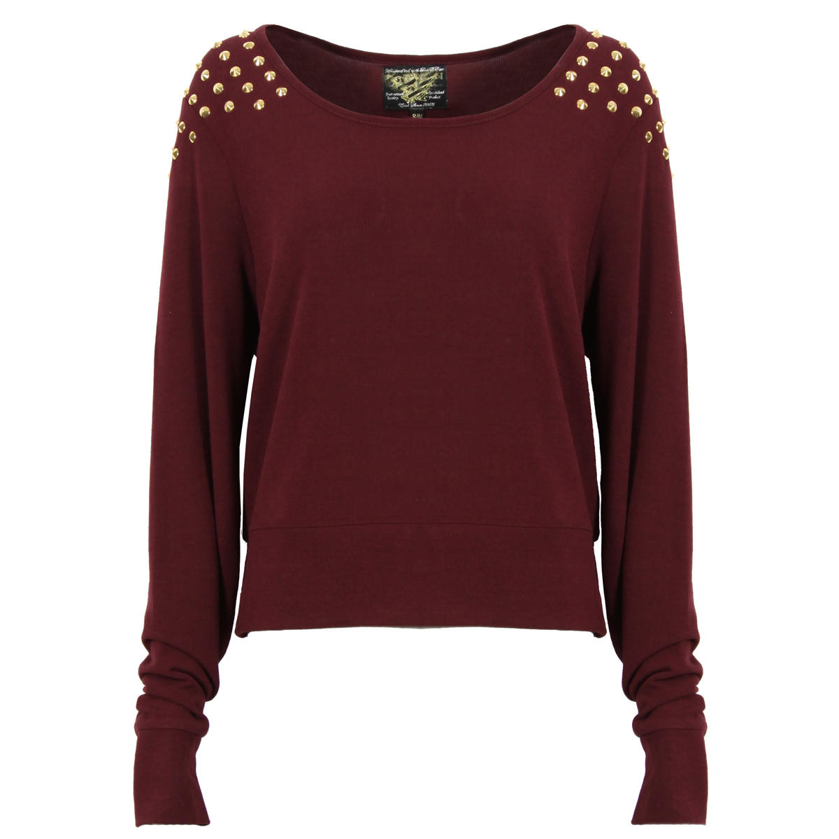 Wine Jumper with Gold Spiked Shoulders Preview
